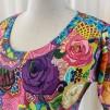 Dahlia Trikåklänning Graffitiros