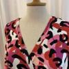 Viola Omlottklänning Rosa Kamouflage