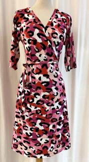 Viola Omlottklänning Rosa Kamouflage - Small