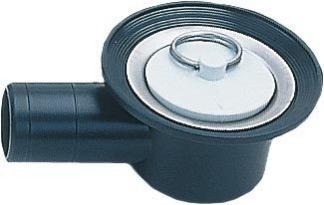 Avloppsplugg - Avlopp vinkel, 33 mm plugg, 19 mm slang