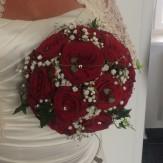 Klassisk brudbukett i hållare