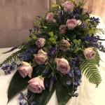 Klassisk dekoration i lila & blå toner