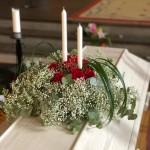 Rund luftig dekoration med ljus