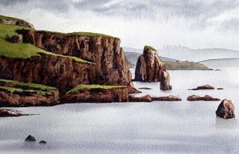 Braewick. Akvarell, Philip Nicholson