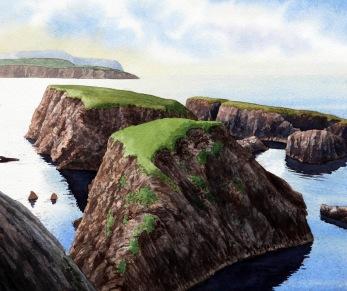 St. Ninian's isle. Akvarell, Philip Nicholson