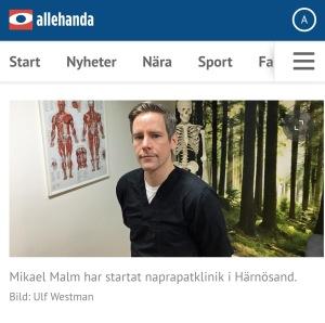 Naprapat i Härnösand Sundsvall Timrå Kramfors Örnsköldsvik
