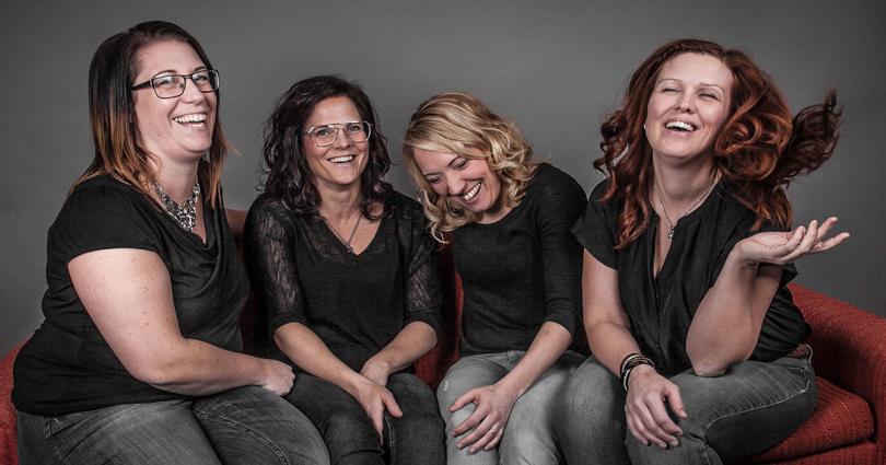 Lisa, Helena, Kicki och Veronica, dina frisörerna på Klippbodan