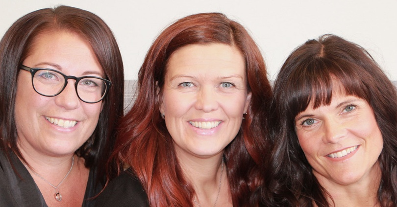 Lisa, Veronica och Helena - dina frisörerna hos Klippbodan i Piteå