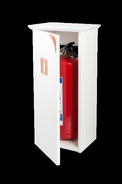 Brinte 6 är ett designat skåp för brandsläckare som smälter in i modern inredning