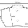 Belägg Golf VI (5K1) - Belägg Fram R disc