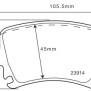 Belägg Golf VI (5K1) - Belägg Bak