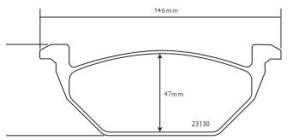 Belägg Golf VI (5K1) - Belägg Fram