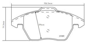 Audi TT (8J3) - Belägg Fram