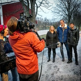 Bakom Kameran Filminspelning med Postkådlotteriet