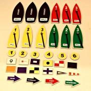 Magnetiskt båtset med signalflaggor