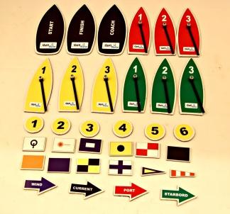 Magnetiskt båtset med signalflaggor -