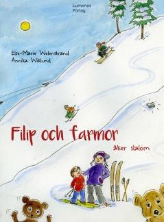 Filip och farmor åker slalom -