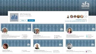 LinkedIn intern profil AFA Försäkring