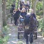 Ägir med Emilia och Stefan i vagnen