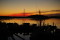 Solnedgång silhuett