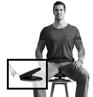 Posture Balance - Balanssits - Posture Balance Färg: Svart, one size