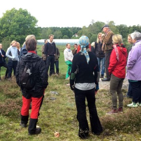 Thomas presenterar natura 2000-området på Skillebyholm