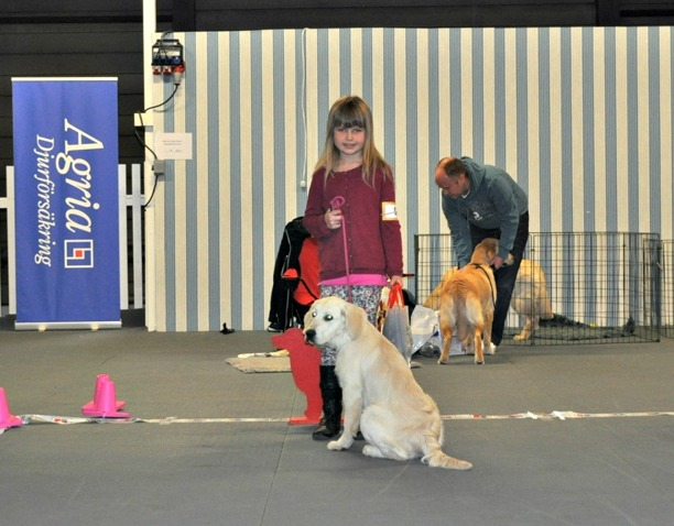 Barn med hund - Fanny testar på att ställa hund och gör detta jätte fint.