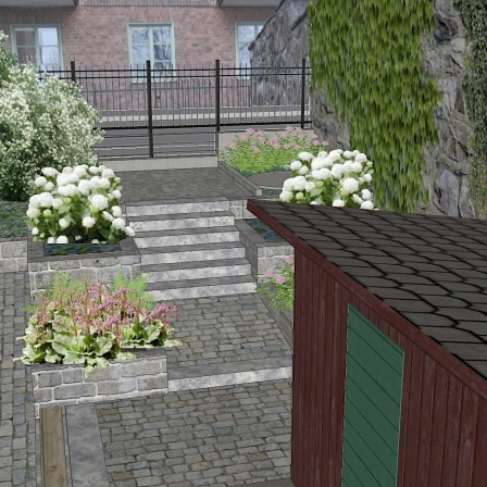 Förslag entré mot Stigbergsgatan