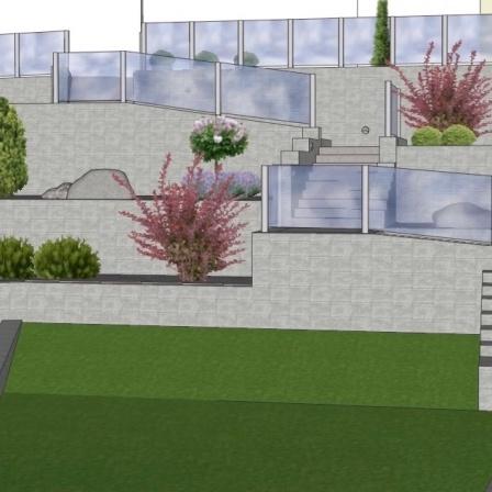 Terrasser med glasräcken