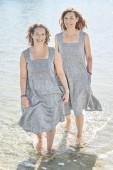 Solklänning i lin