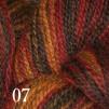 Melerat 2-tr ullgarn - Rödbrun 207