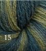 Melerat 2-tr ullgarn - Grönmix  215