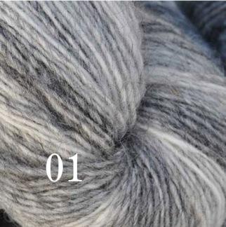 6 Hjelholts 1-tr ullgarn - Ljusgrå  101