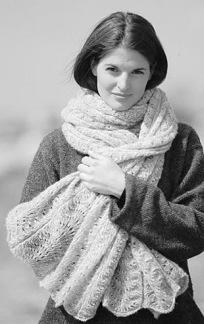 Hålmönstrad sjal -