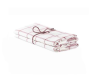 Handduk köksrutan i lin 2-pack - Handduk köksruta Rosa