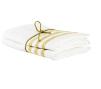 Handduk lin 2-pack - Handduk Rand Ockra