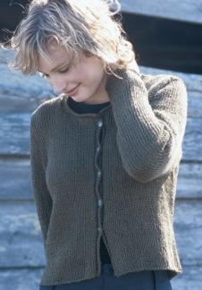 Kofta i ull eller lingarn på stickor 6 - Kofta