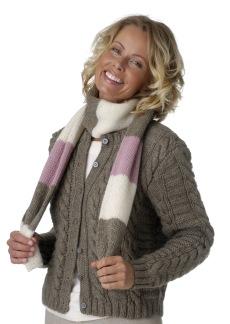 Slätstickad sjal i lin eller ull - Slätstickad sjal i ull eller lin