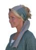 Slätstickad sjal i lin eller ull