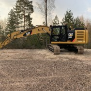 CAT 323E med GPS / Trimble