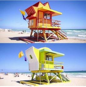 Badvaktstorn på North Beach