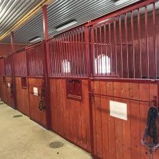 tre av stallets boxar