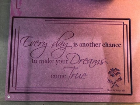 Every day is another chance to make your Dreams come True