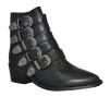 Pavement Boots i skinn med silverspännen - Storlek 37