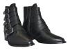 Pavement Boots i skinn med silverspännen