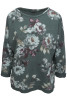 Chica London Sweatshirt Blomprint - One Size