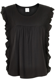 Culture Boel Blouse Volang Black - Storlek S