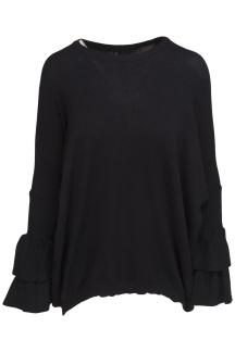 Chica London Tröja med volangärm och zip - Storlek S/M