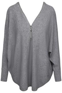 Chica London Stickad tröja med zip - One Size