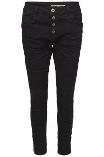 Chica London Jeans Baggy med glitter revär - Storlek XS